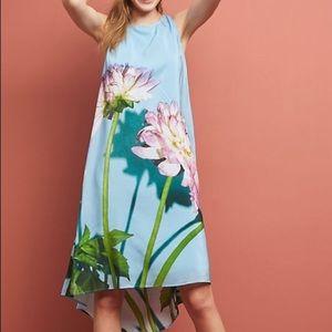 Anthropologie Photorealistic Silk Dress, NWT 4